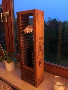 Wooden lantern made from vintage cigar mold // Holzlaterne aus Zigarrenbrett
