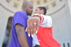 A Greek Urban Romance Engagement Session in Downtown Ohio: Chanel + Maurice