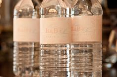 Custom water bottle labels for a baby shower by HH Design House