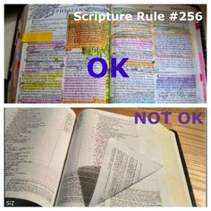 Clearly there is a right and wrong way to mark your scriptures.