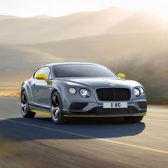 Instagram media by bentleymotors - Introducing the new Continental GT Speed, the fastest production Bentley ever with a top speed of 206 mph (331 km/h)  Colour Spec: The new Black Edition specification – Meteor with Cyber Yellow