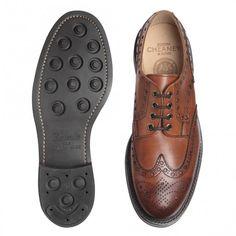 Cheaney Avon R Wingcap Country Brogue in Dark Leaf Calf Leather | Dainite Rubber Sole £330.00