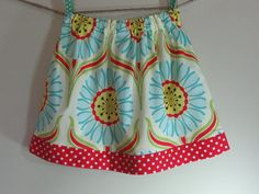 Girls Skirt Twirl Skirt Mod Daisy Pop Garden by SouthernSeamsKids