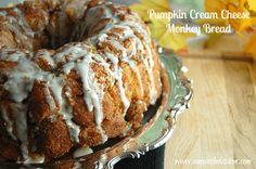 Pumpkin Cream Cheese Monkey Bread
