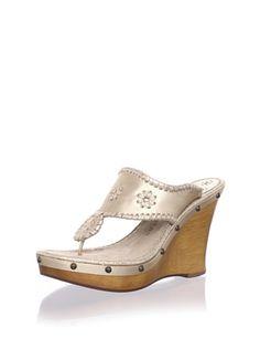 Jack Rogers Womens Marbella Wedge Sandal, Platinum, 11 M US | Shoes For Girls