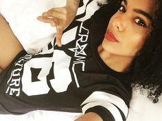 """Occulture 666"" Mesh Tee available at www.crmc-clothing.co.uk | WE SHIP WORLDWIDE  #vixen #meshtee #frizzyhairdontcare #alternative #frizzyhair#fashionstatement #stunning #lit #fashionista #womenswear #blackandwhite #sixsixsix #blackmodel #blackgirlsrock #beautifulblackwomen #cute #instacute #beautiful #dailyfashion #styles #style #raven #model #occult #instagrammers #instalike #instalove #igers #love #instagood"
