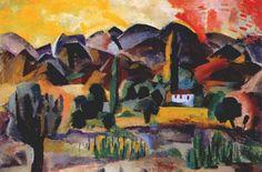 В горах (пейзаж), 1916. Роберт Рафаилович Фальк