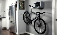 Shelfie is a Shelf and a Bit of Bike Storage in One
