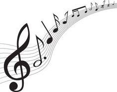 音符イラスト「流れる楽譜」- 無料のフリー素材