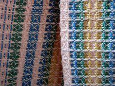 Tissage grain d'orge No 1 Textiles, Weaving Projects, Tear, Weaving Patterns, Tea Towels, Fiber Art, Loom, Hand Weaving, Diy And Crafts