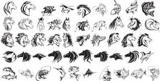 Horse Fish pack vectors for engraving corel 18 CDR File
