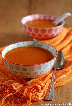 Makkelijk maandag: paprika tomaten soepje! Lekker, snel en gezond!