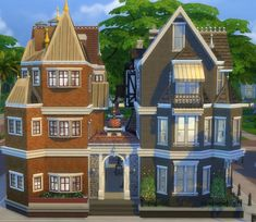 Old Town District with Victorian-style Shops by HiddenMoon at Mod The Sims • Sims 4 Updates