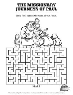 The Missionary Journeys Of Paul Bible Mazes Can Your Kids Find Their Way Through Each