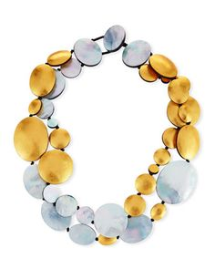 Two-Strand+Disc+Necklace+by+Viktoria+Hayman+at+Neiman+Marcus.