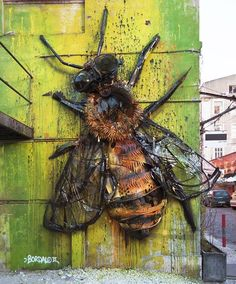 "Bordalo II, ""Bee"" in Lisbon, Portugal, 2016"