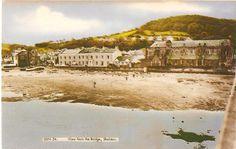 Shaldon (Riverside) from the Bridge - original postcard circa - Devon, Bridge, Mansions, The Originals, House Styles, Cards, Manor Houses, Bridge Pattern, Villas