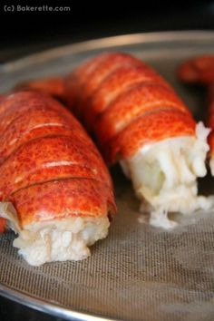 How to make perfectly succulent lobster tail with a step-by-step pictorial. https://Bakerette.com