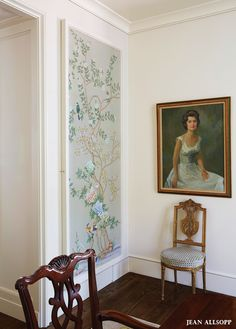 Hand-painted wallpaper panels framed on walls or as art to take with you :)