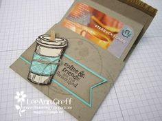 Coffee Cup Fun-Fold Gift Card Free template from Flowerbug's Inkspot