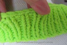 Sentarse a Coser: Vídeo Tutorial: Cómo rematar el cuello de un jersey tejido Fingerless Gloves, Arm Warmers, Lana, Crochet, Laurus Nobilis, Shape, Yarns, Tejidos, Needle Points