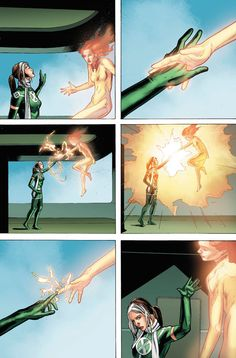 The return of Rachel Grey aka Marvel Girl as Revenant Jean Grey Phoenix, Phoenix Art, Dark Phoenix, Rachel Summers, Rogue Gambit, Absorbing Man, Xmen Comics, Comic Art Community, Beast Boy