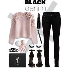 #blackdenim