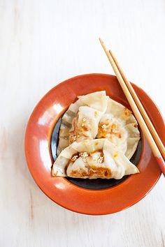 Pork and Shiitake Gyoza (Japanese potsticker)