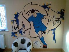 Cool soccer mural