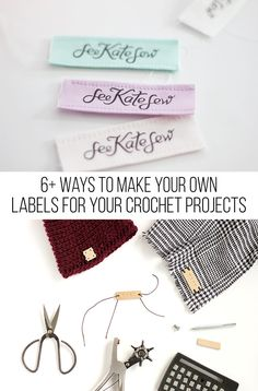 I've gathered some of the coolest and most unique ways to make your own  labels for your crochet projects today!  If you're anything like me, you jump on an opportunity to make something  yourself rather than buy it, and I think this is a great example.It can  get expensive to buy your own cu