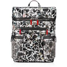 Christian Louboutin Apoloubi Backpack (€2.065) ❤ liked on Polyvore featuring bags, backpacks, leather pouch, urban backpack, genuine leather backpack, laptop backpack and leather rucksack