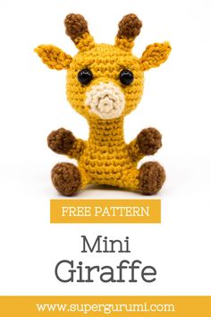 This free amigurumi giraffe crochet pattern is crocheted easily and quickly and is perfect as decorative figurine, gift or key chain. Make your loved ones happy with this little giraffe by supergurumi. #Amigurumi #Crochet Fast Crochet, Easy Crochet Hat, Diy Crochet, Crochet Crafts, Crochet Baby, Crochet Projects, Crochet Giraffe Pattern, Crochet Keychain Pattern, Crochet Amigurumi Free Patterns