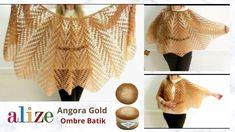 كروشيه شال |كاب شتوي موهير |Alize Angora Gold Ombre Batik - YouTube Crochet Videos, Crochet Shawl, Ruffle Blouse, Beautiful, Fashion, Creativity, Creative, Blouses, Scarves