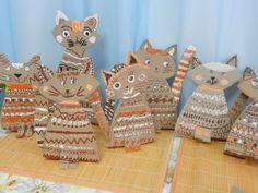 Karton kutular 📦 dan kedi 🐈 #dan #Karton #kedi #kutular #recycled crafts kids preschool classroom