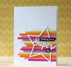 PTI-Enclosed: Star w/Plaid Builder stripe images (Laura Bassen) Strip Cards, Bday Cards, Stampin Up, Cricut Cards, Paper Cards, Cards Diy, Pretty Cards, Card Sketches, Masculine Cards