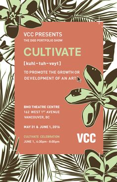 #Poster #Design submission for the Vancouver Community College Digital #GraphicDesign Portfolio Show