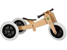 Gratis Lieferung ✓ 30 Tage Rückgaberecht ✓ Holzlaufrad – vom Dreirad zum Zweirad umbaubar. Sitzhöhe verstellbar. Holz aus nachhaltiger Plantagenwirtschaft, Gummibereifung. 1 Jahr Herstellergarantie., Kinderlaufdreirad für Kinder ab 12 Monate