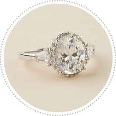 vintage engagement ring -- IN LOVE