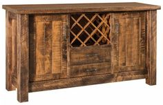 Amish Houston Bar and Wine Cabinet Rustic and rich wine cabinet, the Houston makes a lovely addition to host your happy hour. Amish made with premium quality wood. #winecabinet #diningroomstorage