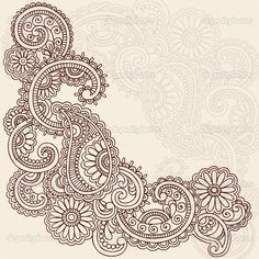 This paisley could be a very nice start to a tattoo...