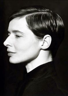 Isabella Rossellini (1952) - Italian actress, filmmaker, author, philanthropist, and model. Photography: Herb Ritts