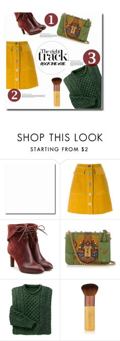 """""""The right track"""" by anja-m on Polyvore featuring M.i.h Jeans, Chloé, Valentino, EcoTools, polyvoreset, yellowisthenewblack and rockthevote"""