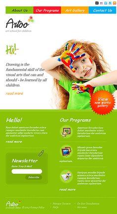 Responsive JavaScript Animated #template // Regular price: $67 // Unique price: $4100 // Sources available: .HTML,  .PSD  #JavaScript #Responsive #tablet #smartphone #Art #school #children
