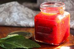 Strawberry Basil Jam (from Alaska from Scratch)