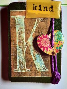 """Handcrafted Rustic + Farmhouse LETTER MAGNET --- Personalized, Unique & Special Gift for Family and Friends --- Letter """"K"""" is for Kind by TextileandType on Etsy https://www.etsy.com/listing/234871984/handcrafted-rustic-farmhouse-letter"""