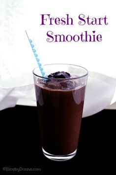 If you want to start your day off with a quick, easy, healthy, and delicious smoothie… try this one, it's full of vitamins, too.