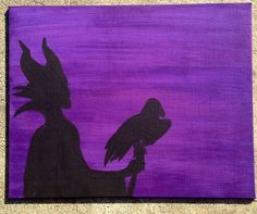 Maleficent Silhouette by TheShadowShoppe on Etsy, $20.00