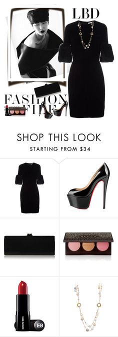 """""""lbd"""" by bodangela ❤ liked on Polyvore featuring Givenchy, Christian Louboutin, Edie Parker and Becca"""