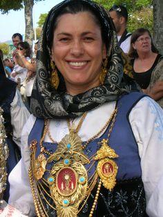 PORTUGAL - Viana do Castelo (ancient Entre-Douro-e-Minho), ...woman wearing a folk outfit.