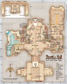 Map of Thorin's Hall (or something similar)